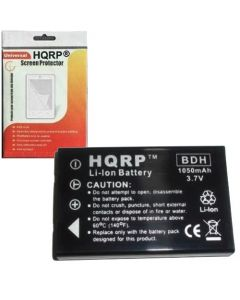HQRP Rechargeable Lithium Ion Battery Replacement for Aiptek for IS DV Digital, GO-HD and A-HD Digital Camcorders plus HQRP Screen Protector