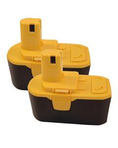 HQRP 2-Pack 18V 2200mAh Battery for Ryobi ONE+ BPP-1817M, BCP1817/2SM, BCP1817/2SM, CHV-180L, CHV-18WD, CHV-18WDM + HQRP Coaster
