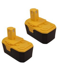 HQRP 18V 2200mAh Battery 2-Pack for Ryobi ONE+ P100 130224028 130224007 130224048 130224053 BPP-1813 130255004 1323303 1322401 1400672B 130224054 Cordless Tools + Coaster