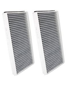 HQRP 2-pack Cabin Air Filter for BMW 530i 2004 / 2005 / 2006 / 2007 Activated Charcoal Microfilter Set plus HQRP Coaster