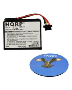 HQRP Battery for TomTom Go 1000, Go 1000 Live, Go 1005 GPS Navigator AHL03711018 VF1C 4CS0.002.01 + HQRP Coaster
