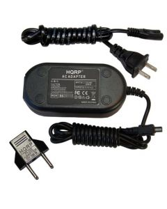 HQRP AC Adapter for NIKON EH-67 fits COOLPIX L100 L110 L120 L310 L340 L810 L820 L830 L840 S830 Digital Camera Power Supply Cord 25803 VEB-006-EA EH67 + Euro Plug Adapter