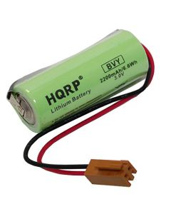 HQRP Battery for Fanuc A98L-0031-0012 A02B-0200-K102 Sanyo CR17450SE-R-3V fits CNC Series Power Mate iD, Power Mate iH, 0i-B / 0i-Mate-B, 0i-D (Stand-Alone), 15-B, 15i-A, 15i-B, 16/18-B + Coaster