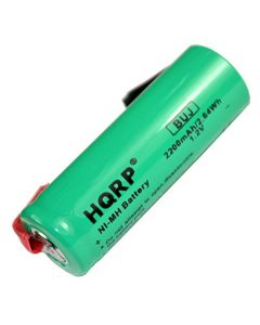 HQRP Replacement Battery for Braun Oral-B 3731 ProCare Triumph 9000 9400 9500 9900 Toothbrush Repair 2200mAh NiMH 1.2V 48mm Long + HQRP Coaster