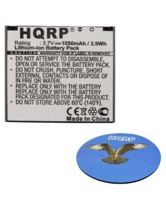 HQRP Battery for Garmin-Asus Nuvifone A50, GarminFone 07G016004146 361-00044-00 SBP-21 TCE2110104709376 A-50 Garmin-Fone 1000846 Smartphone + HQRP Coaster