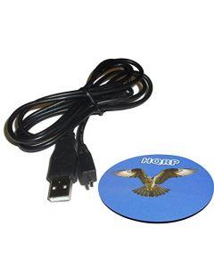HQRP USB Image Transfer / Battery Charging Cable for Sony Cyber-shot DSC-TF1 DSC-W710 DSC-W730 DSC-W800 DSC-W810 DSC-W830 Digital Camera Cord + HQRP Coaster
