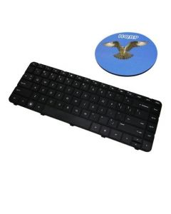 HQRP Keyboard for Compaq Presario CQ43 CQ57 CQ43-100 CQ43-200 CQ43-300 CQ43-400 CQ57-100 CQ57-200 CQ57-300 CQ57-400 Laptop plus HQRP Coaster