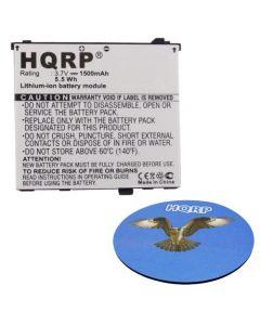 HQRP Battery for ACER Liquid, Liquid A1, Liquid E, Liquid E Plus, Liquid E400, Liquid S100, Stream Smartphone A7BTA020F BT.00107.002 US55143A9H 1S1P + HQRP Coaster