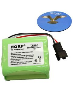 HQRP 2200mAh Battery for Teac R-1 R-2 R-5 R-12 Portable AM/FM Radio BP-R1 BP-R2 BP-R5 BP-R12EU Replacement plus HQRP Coaster