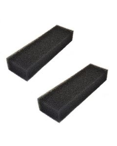 HQRP 2-pack Square Foam Aquarium Filter for Eshopps AEO19070 Replacement, Large + HQRP Coaster