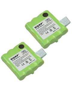 HQRP TWO Batteries for Midland CXT280, LXT326, LXT328, XT24, XT25, XT26, XT27, XT29 Two-Way Radio + Coaster