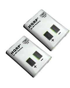 HQRP TWO Rechargeable Batteries for Motorola MH230 / MH230R Two-Way Radio plus Coaster