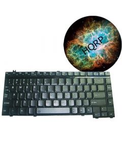 HQRP Laptop Keyboard for Toshiba Satellite A135-S4498 / A135-S4499 / A135-S4517 / A135-S4527 Notebook Replacement plus HQRP Coaster