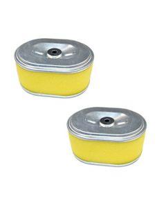 HQRP 2-pack Air Filter Element Dual for Honda 17210-ZE0-505 / 17210-ZE0-822 / 17210-ZE8-820 Replacement fits Honda 3.5 - 4 HP Engines + HQRP Coaster