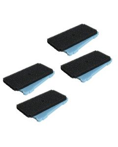 HQRP 4-Pack Coarse and Fine Pre-Filter Pads for Sunterra 320106 337106 Pump Pre-Filter Box, Blue and Black Filters Replacement + HQRP Coaster