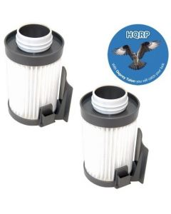 HQRP 2-Pack Washable Vacuum Filter fits Eureka DCF-10 / DCF-14 / 79982 / 75273-1 / 62731A / 62731B / 62731 / 62395 H12 plus HQRP Coaster