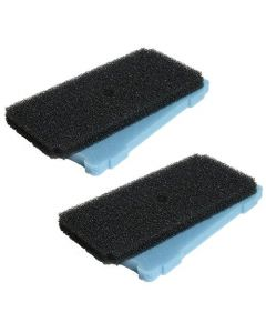 HQRP Pre-Filter Replacement 2-Pack for Sunterra 320106 337106 Pump Pre-Filter Box, 2 Coarse Filters + 2 Fine Filters, Blue and Black + HQRP Coaster