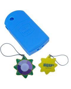 HQRP Protective Silicone Blue Shell Case Cover compatible with Mazda 6, Mazda6, Mazdaspeed 6, Mazda Atenza Advanced Smart Intelligent Car Key + HQRP UV Meter