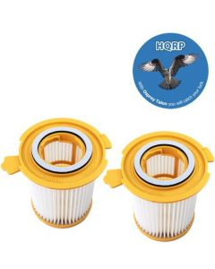 HQRP 2-Pack Washable & Reusable Filters compatible with Dirt Devil F12 / F-12 Filter Replacement plus HQRP Coaster