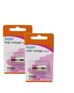 HQRP 2-Pack 6-Volt Battery for Fujica ST801 / ST901 / AX-3, Yashica 35 CCN / FX-1 / FR II, Canon A-1, AE-1, AE-1 Program, AV-1, AT-1 Film Camera + Coaster