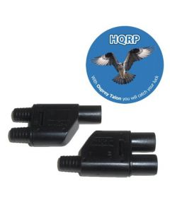 HQRP Pair MC3 T-branch Solar Panel Connector M/M/F & F/F/M (1F2M & 1M2F) for PV / Photovoltaic System plus HQRP Coaster