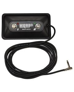 HQRP 2-Button Guitar Amp On/Off Footswitch with LED and 1/4-Inch Jack plus HQRP Coaster
