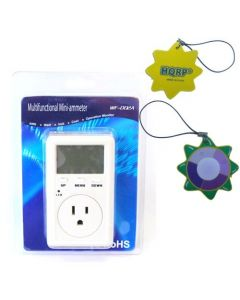 HQRP Digital Energy Monitor WF-D02A for Measure voltage / Calculating the cost of energy according to the pre-set price of energy plus HQRP UV Meter