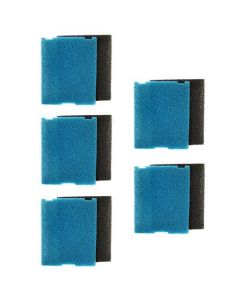 HQRP 5-pack Flat Box Filter Pads for Tetra Pond FK5 / 26593, FK6 / 26598 Filtration Fountain Kits + HQRP Coaster