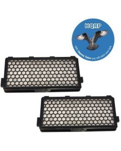 HQRP 2-Pack Active HEPA Filter compatible with Miele AH50 / 05996882 / 07226170 / Replacement plus HQRP Coaster