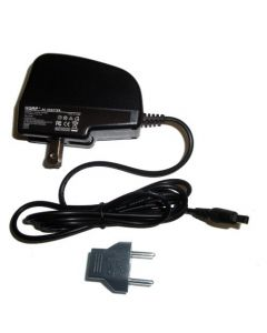 HQRP Wall AC Power Adapter, Charger, Square Connector for Samsung SMX-F34 SMX-F34BN SNC-L200 SNC-L200W VP-D303Di Camcorder plus Euro Plug Adapter