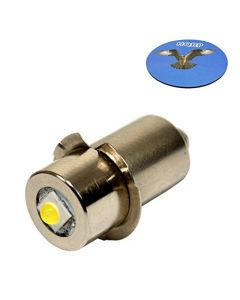 HQRP High Power Upgrade Bulb 3W LED 100LM for Ryobi ONE+ Worklight P704 P700 335443 019622001007 7811501 780293001 Flashlight + HQRP Coaster