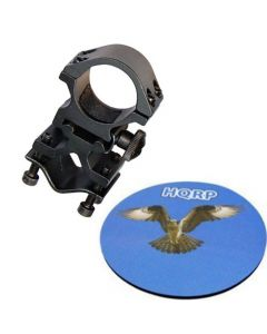 HQRP Tactical Flashlight Mount / Holder with Barrel / Weaver / Picatinny Mount Type for Night Hunting plus HQRP Coaster