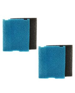 HQRP 2-pack Submersible Pond Filter / Flat Box Filter Pads for Tetra SF1, FK5, FK6 + HQRP Coaster