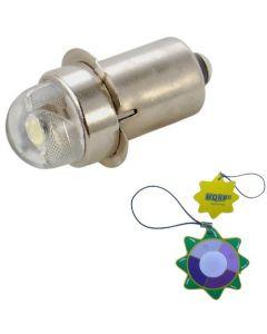 HQRP 45 Lumens 0.5w LED Replacement Flashlight Bulb For 2 3 4 5 6 D Cell Lanterns Flashlights Torchs 1v - 9V plus HQRP UV Meter