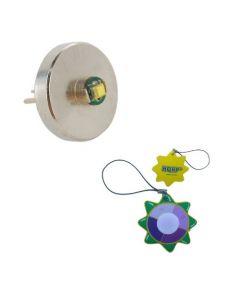 HQRP Hight Power 3W 60 Lumens Bi-Pin LED MODULE / Bulb for 1 AAA / AA Maglite Solitaire / Mag-Lite Mini Flashlight plus HQRP UV Meter
