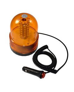 HQRP Amber Emergency Hazard Warning Truck Snow Plow Safety Magnetic Mount Beacon Strobe Lights for Maximum Visibility plus HQRP Coaster