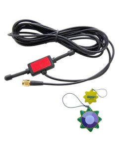 HQRP Antenna 433MHz 2dbi GSM SMA male plug tentacle 3M RG174 cable w/ Universal CMMB Patch for Digital Cellular Alarm Communicator / Mobile Phone / Car GSM Phone + HQRP UV Meter