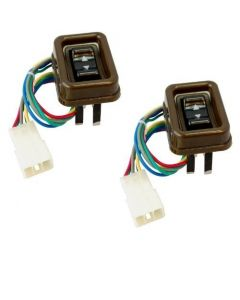 HQRP 2pcs Power Electric Passenger Window Switch for Toyota Land Cruiser 1984 / 1985 / 1986 / 1987 / 1988 / 1989 / 1990 plus HQRP UV Meter