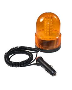 HQRP Super Bright 60 SMD5050 LED Emergency Amber Beacon w/ Magnetic Base Safety Strobe Light for Car Truck + HQRP Coaster