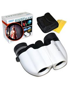 HQRP Stylish White Opera Glasses 8x21 UCF for Theater Performance Plays Symphony Concert Cultural Events Museum Gallery