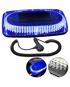 HQRP Strobe Blue Light 240-LED Emergency Hazard Warning LED Mini Bar Strobe Light w/ Magnetic Base for Car Trailer RV Caravan Boat plus HQRP UV Meter