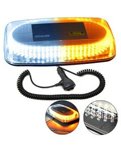 HQRP 240 LED Magentic Emergency Amber / White Strobe Mini Light Bar Tow / Plow Escort Safety for Truck Car Auto plus HQRP Coaster