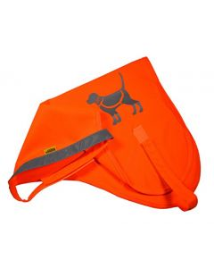 HQRP High Visibility Reflective Dog Safety Vest Fluorescent Orange for Night Walking, Hiking, Outdoor Play