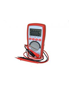 HQRP LCD Digital Multimeter DMM - Voltmeter / Ammeter / Ohmmeter / °C °F Temperature Meter / Cymometer / Diodes Tester + HQRP UV Meter