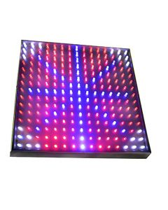 HQRP New High-Power QUAD Indoor Garden LED Light Panel for Growths Stimulate Blue + Red + Orange + White 460 / 630 / 610 nm 225 LED 13.8W 12V + UV Meter
