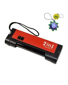 HQRP 2 in 1 Mini Blacklight UV Counterfeit Money detector 365nm with Torch Function plus HQRP UV Meter