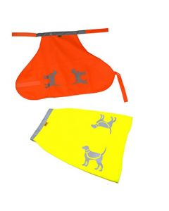 HQRP Bright Orange & Yellow Reflective Dog Safety Vests for Outdoor Play, Night Walking, Hiking, Hunting