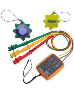 HQRP 3 Phase Sequence Rotation Tester LED Indicator Detector Checker plus HQRP UV Meter