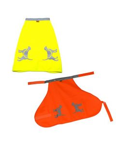 HQRP Two High Visibility Dog Safety Vests for Protecting Pets From Cars & Hunting Accidents, Fluorescent Yellow & Orange