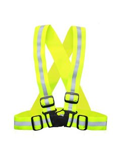HQRP Reflective Vest for Safe Jogging, Running, Cycling, Motorcycle Riding, Dog Walking - Neon Yellow, Elastic and Easily Adjustable